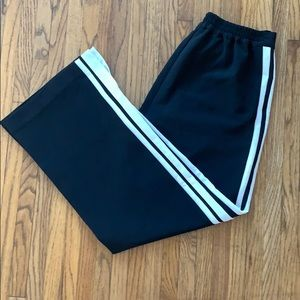 Black and white track pants